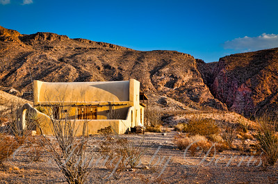 Adobe cabin in Terlingua Texas