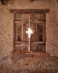 Star burst in cross