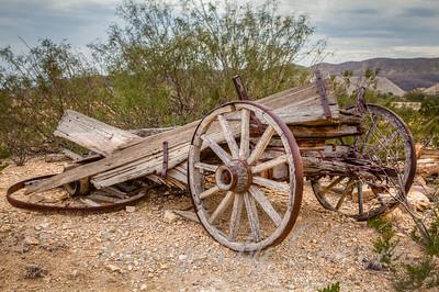 dilapidated wagon in Terlingua, Texas
