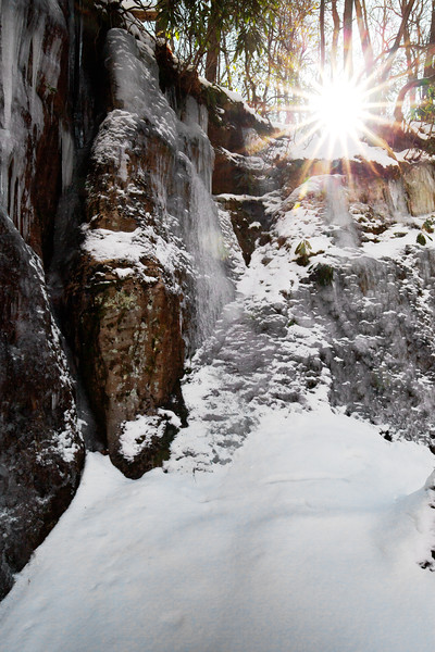 Sunstar on Ice Cliff