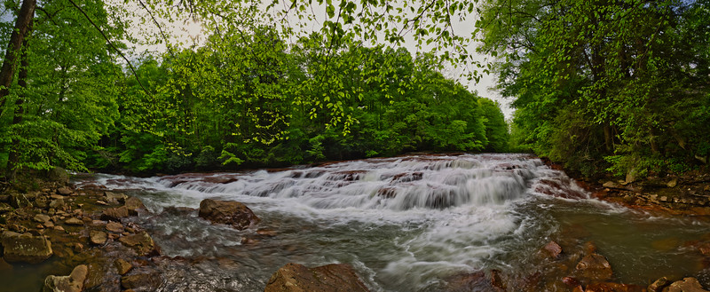 Muddy Creek Falls 0981-89 P Panorama