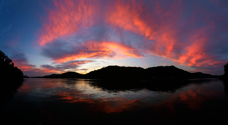 Ohio River Sunset Panorama 9116-22