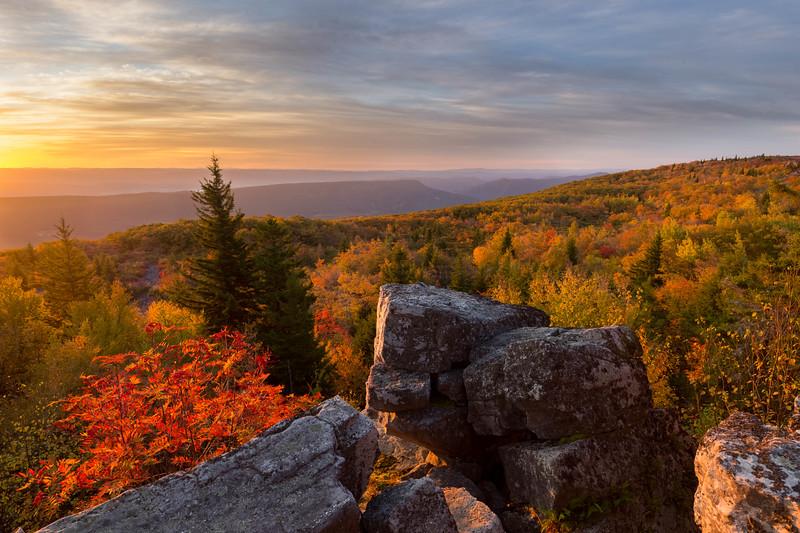 Bear Rocks Sunrise 7523-24
