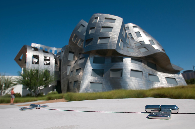 Besides housing crooks, gambling addicts and the mafia, Las Vegas is home to a Frank Gehry-designed building.