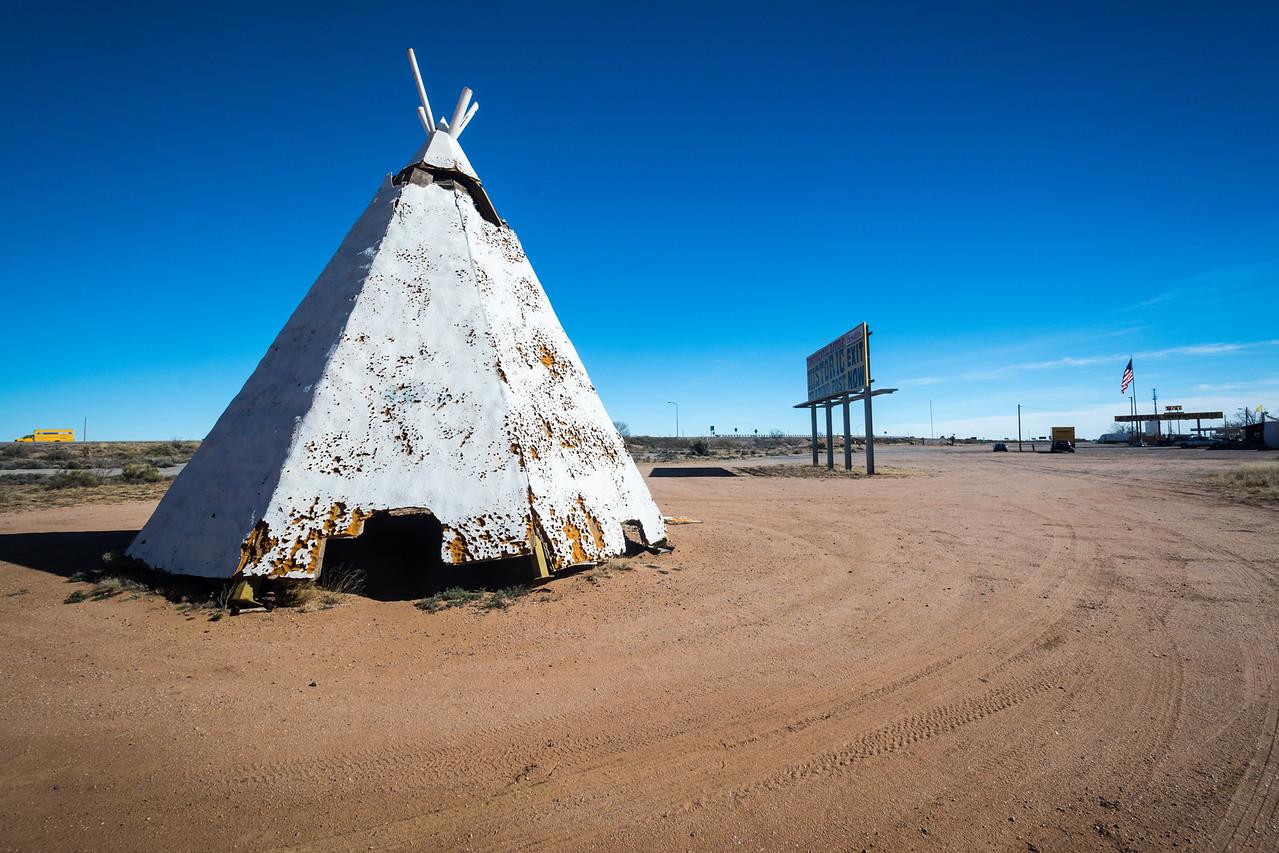 A teepee along I-8.