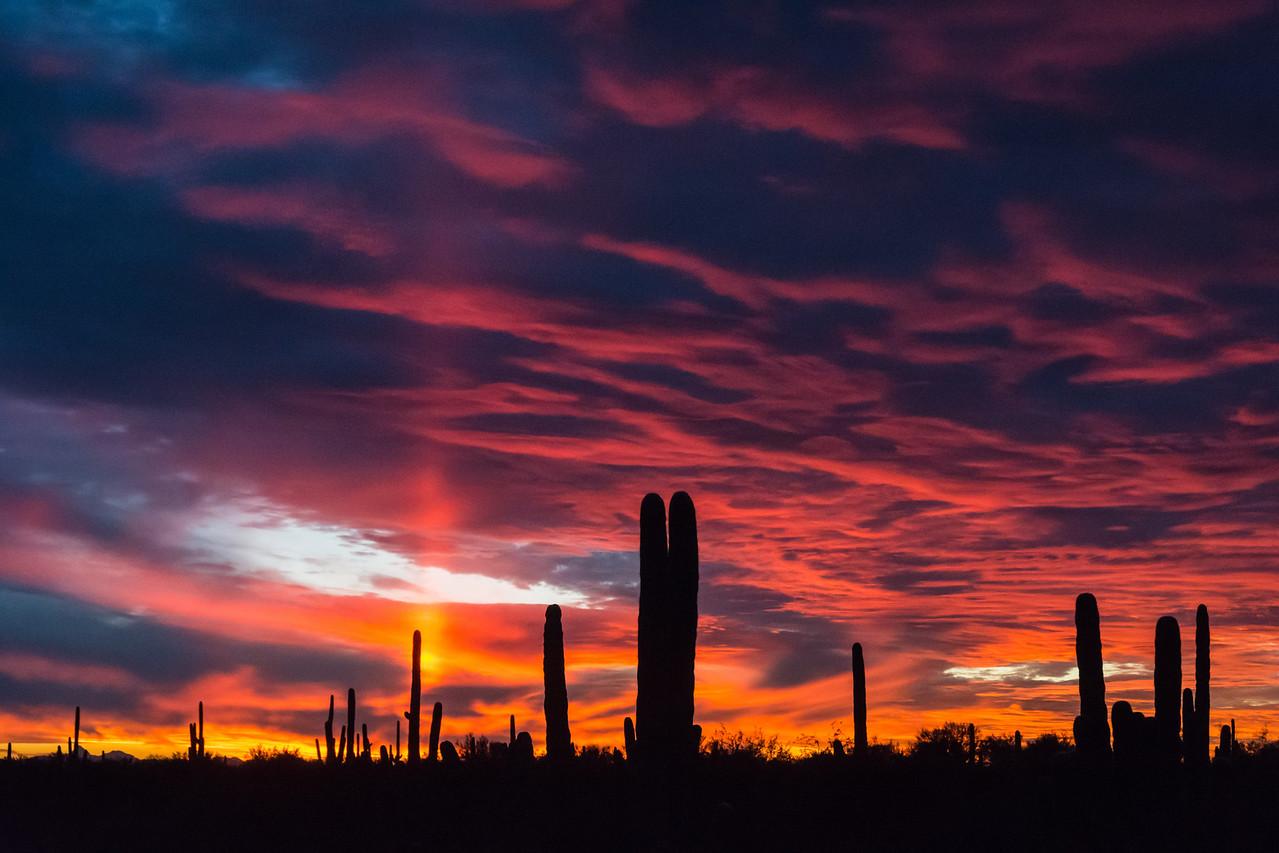 I shot this sunset around Tucson.
