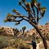 Early on, he stressed the importance  of stretching. Here a joshua tree exercises with him.