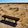 A bench in the middle of nowhere from which one can reflect on the meaning of life...or not.