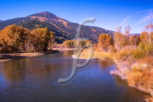 Blackfoot River in Fall