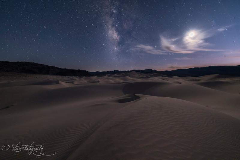 Deep Blue Hour in Eureka Dunes, Death Valley, CA
