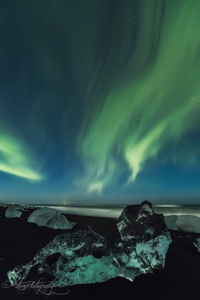 Ice Beach Aurora I - Iceland 2016