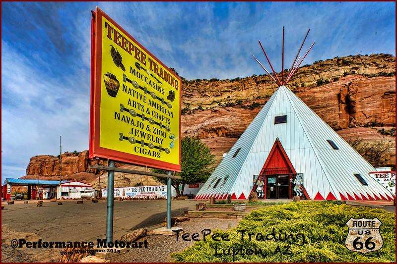 Postcard look Route 66...Tulsa, OK thru Lupton, AZ