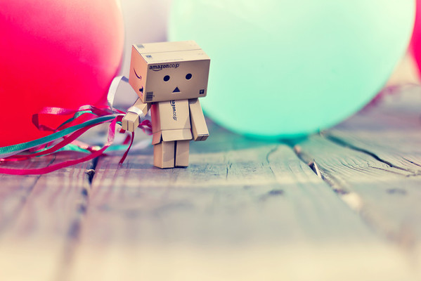Danbo Couldn't Help But Feel A Little Sad When His Balloons Deflated