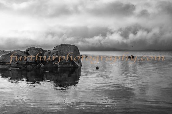 Storm on Millerton Lake