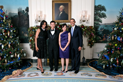 2012 White House Holiday Party for the Press