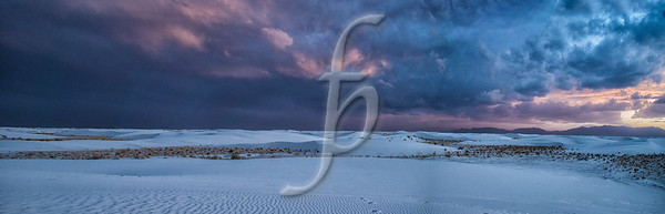 Sunrise in White Sands