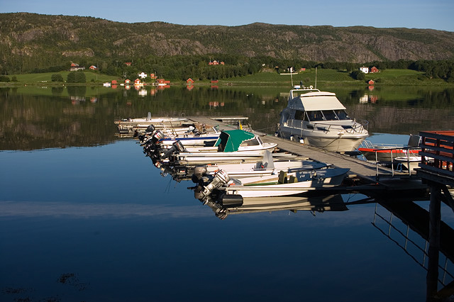 Norway. Small harbour. John Chapman.