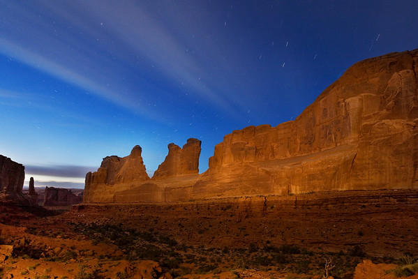 Park Avenue, Star Trails, Arches NP