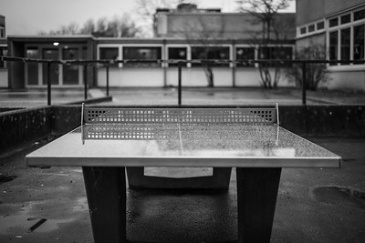 Table Tennis stone table at Wiesenhof School in Wilhelmshaven, Germany.