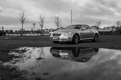 Wilhelmshaven, Germany - December 27, 2018: A Lexus SC 430 at the coast of Wilhelmshaven.