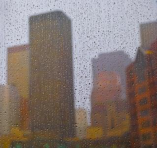 Rainy Skyline, San Francisco, 2009