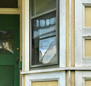 Torn Screen & Reflection, Portland, 2020