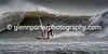 Storm Doris - Mast high waves.