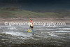 Windsurfing rough seas at Newton, Wales.