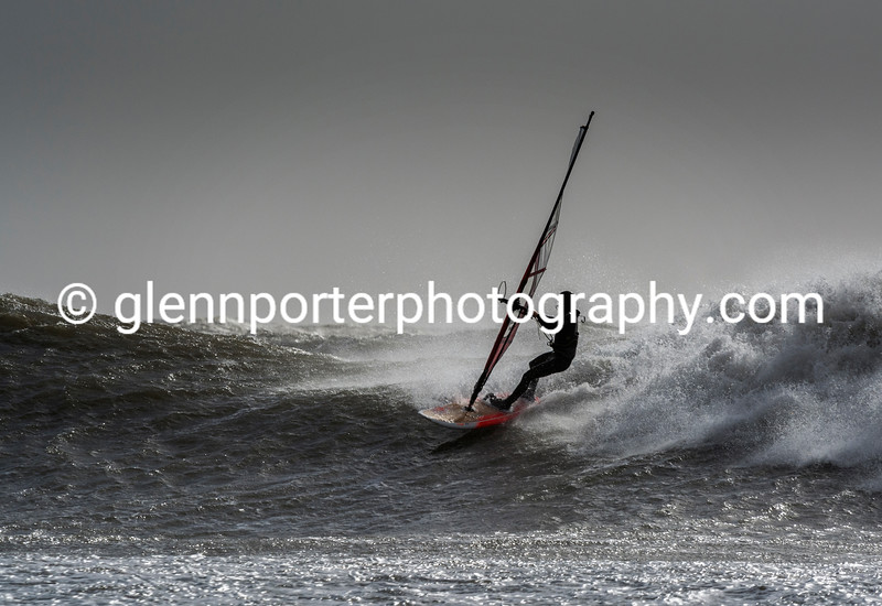 Storm Doris - Dropping in on a wave.