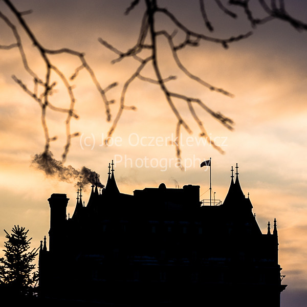 Hotel Fort Garry During Winter Twilight