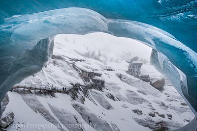 Grotto in glacier Mer de Glace