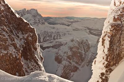 Dolomites in Passo Pordoi