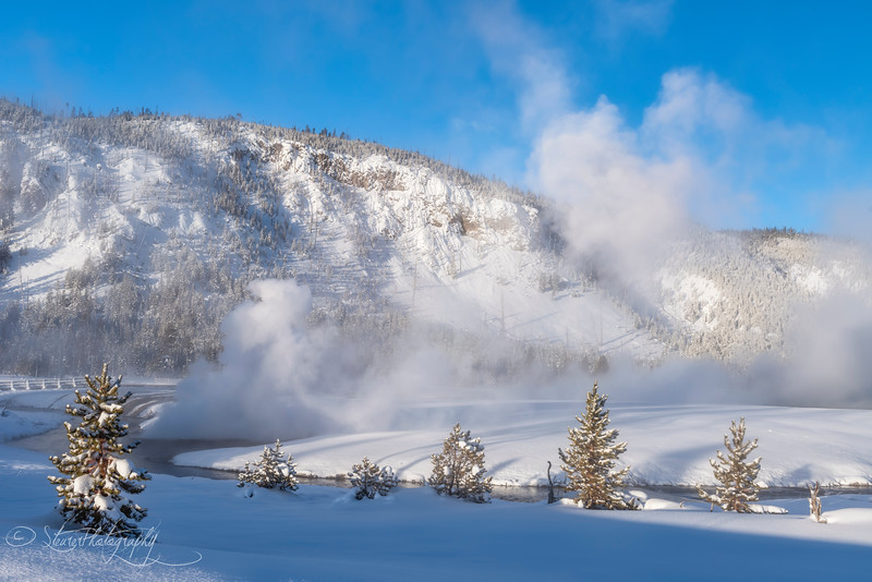 After the blizzard - Black Sand Geysir Basin, Yellowstone 2018