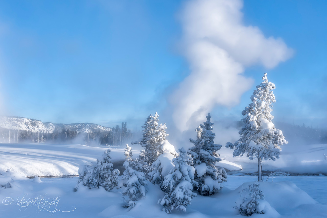 Winter Wonderland - Black Sand Geysir Basin, Yellowstone 2018