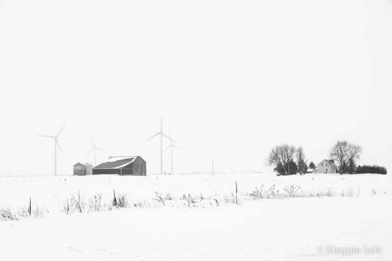 Wind Farm and Barn