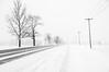 Road in Snowstorm