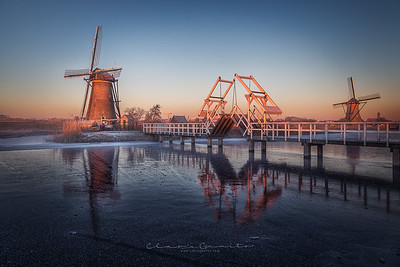 The bridge and the windmills