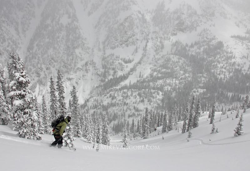 Bighorn<br /> <br /> Justin McCarty drops into the Bighorn drainage<br /> Gore Range, Colorado