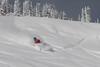 Raymond Paldanius slashes a big turn in the Vail backcountry