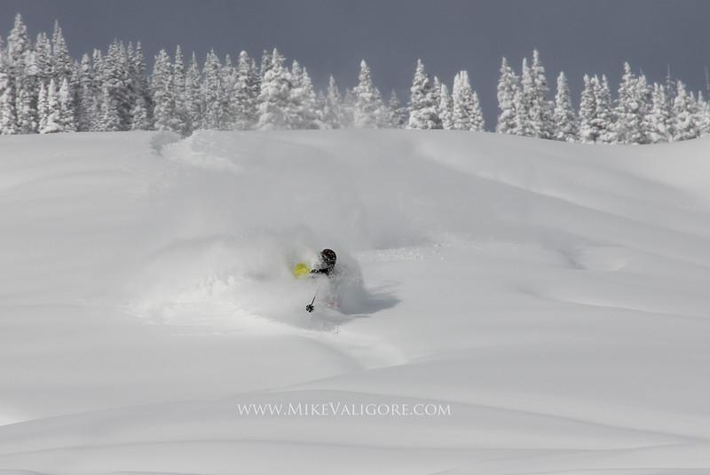 Deep Turns<br /> Vail backcountry, Colorado