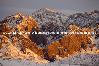 Winter sunset on the Chisos