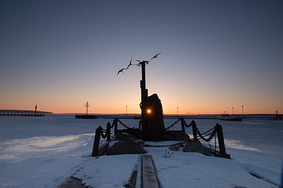Memorial in Bayfield Harbor