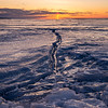 Ice Crack Sunrise
