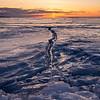 Ice Crack Sunrise