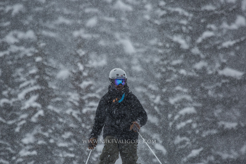 Greybird storm skiing <br /> Vail backcountry, Colorado