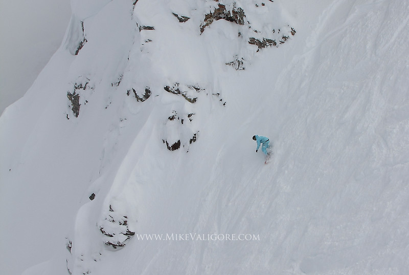 Pointing It <br /> <br /> Ross Moore points it down Greeley Bowl in Revelstoke, British Columbia.