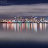 Boston Skyline at Night from Winthrop Massachusetts