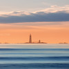 Graves Lighthouse from Winthrop Beach Massachusetts at Sunrise