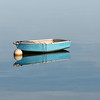 Sailing Dinghy with Morning Light in Crystal Cove Winthrop Massachusetts