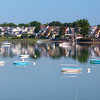 Crystal Cove in Winthrop Massachusetts with Boats on Calm Summer Morning